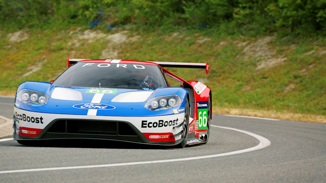 Ford GT LM GTE Pro on track front
