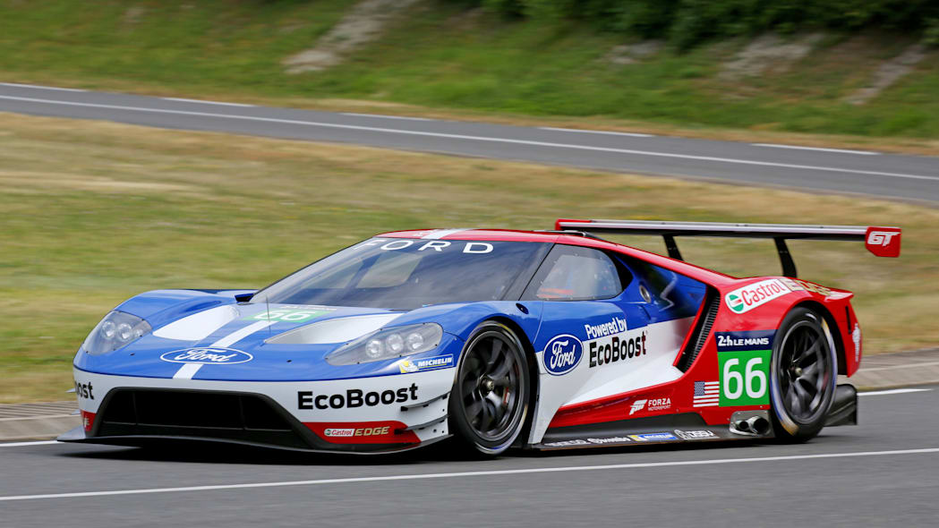Ford GT LM GTE Pro on track front side 3/4