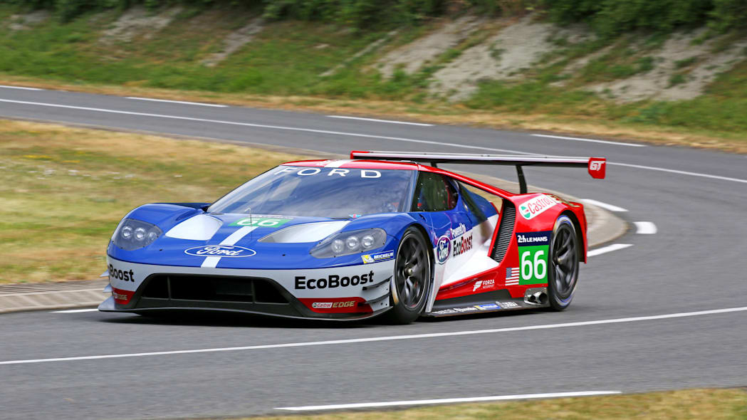 Ford GT LM GTE Pro on track front 3/4