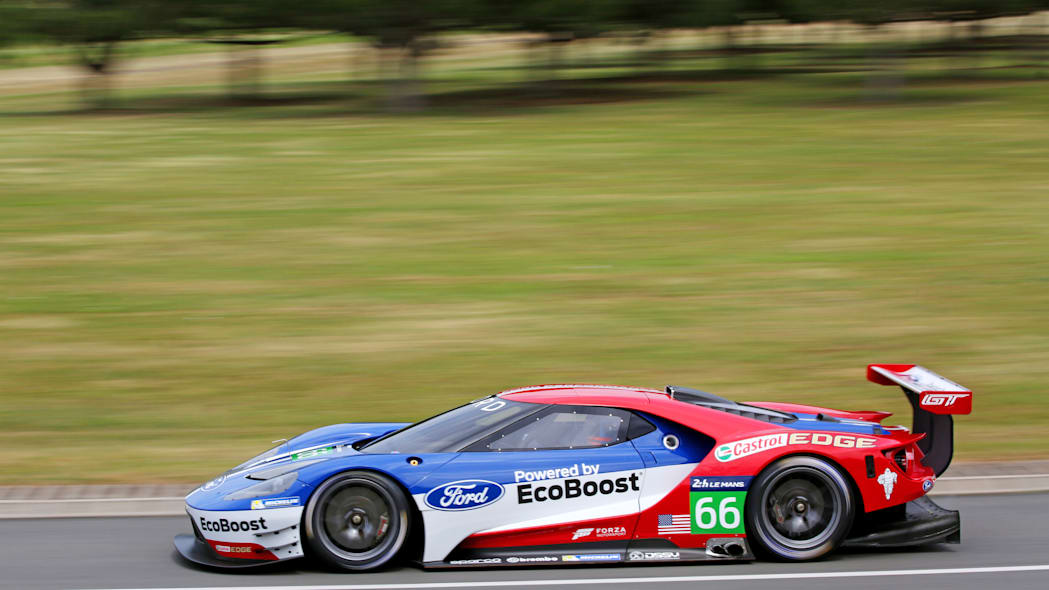 Ford GT LM GTE Pro on track side