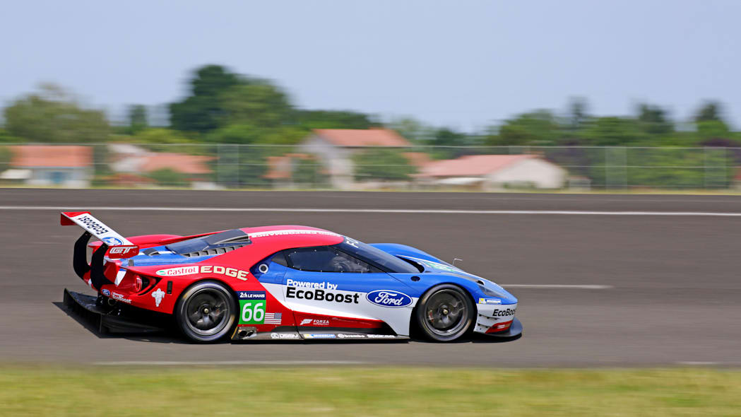 Ford GT LM GTE Pro on track side rear 3/4