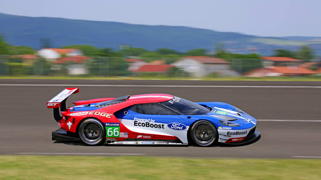 Ford GT LM GTE Pro on track side front 3/4