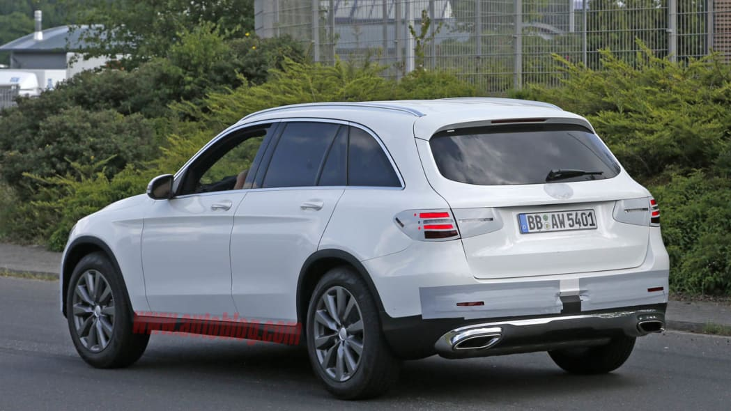 Mercedes GLC spotted undisguised