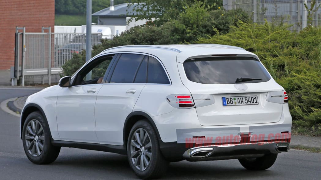 Mercedes GLC-Class spotted undisguised