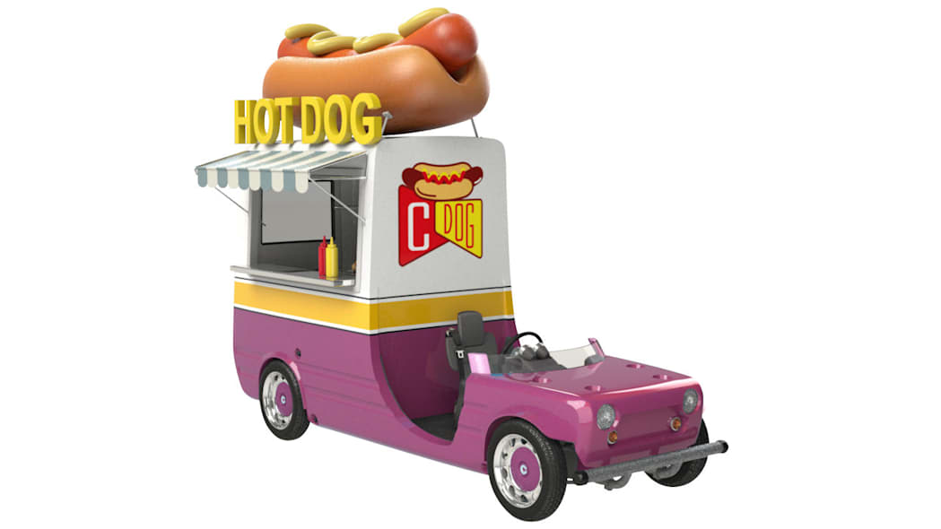 Toyota Camatte hot dog truck
