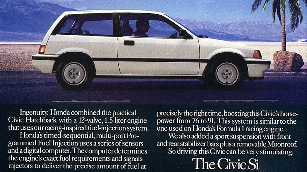 1986 Honda Civic Si white side view