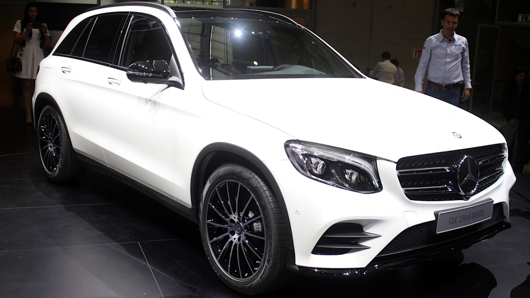 2016 Mercedes-Benz GLC 250d front three-quarter, opposite angle.