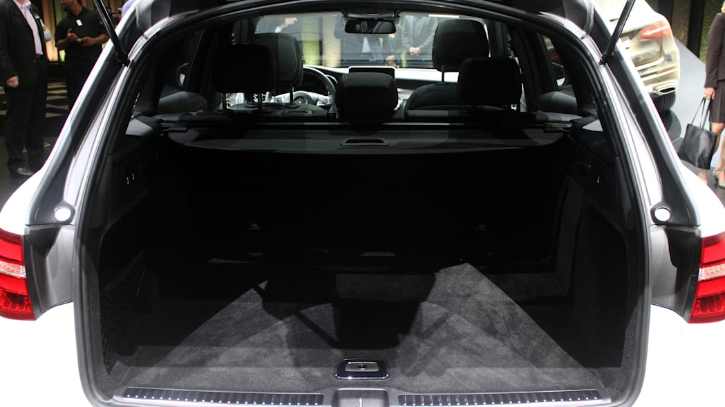 2016 Mercedes-Benz GLC 250d cargo area.