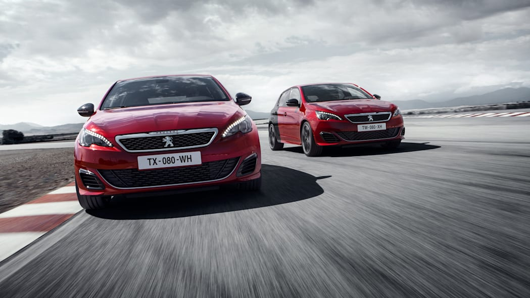 Peugeot 308 GTi front track