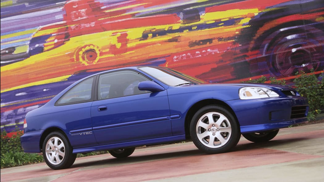 2000 Honda Civic Si coupe blue side