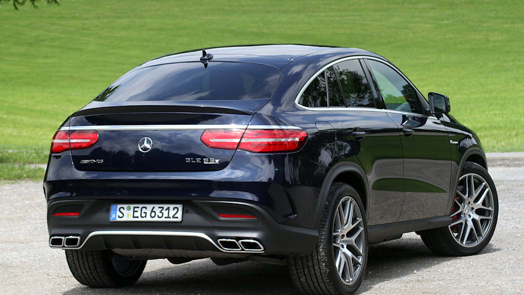 2016 Mercedes-Benz GLE Coupe rear 3/4 view