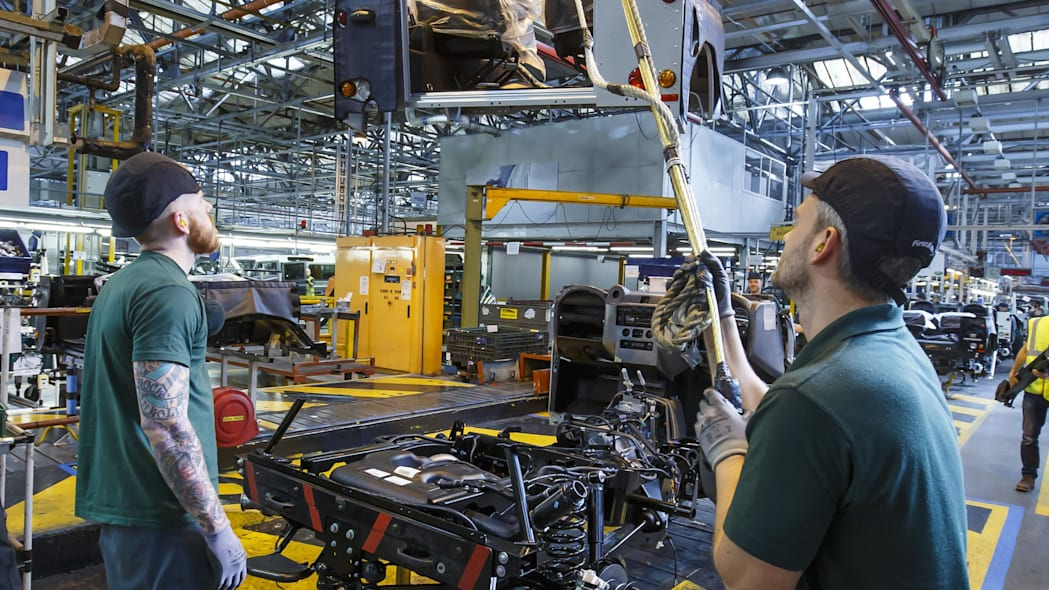 Land Rover Defender 2,000,000 assembly Solihull