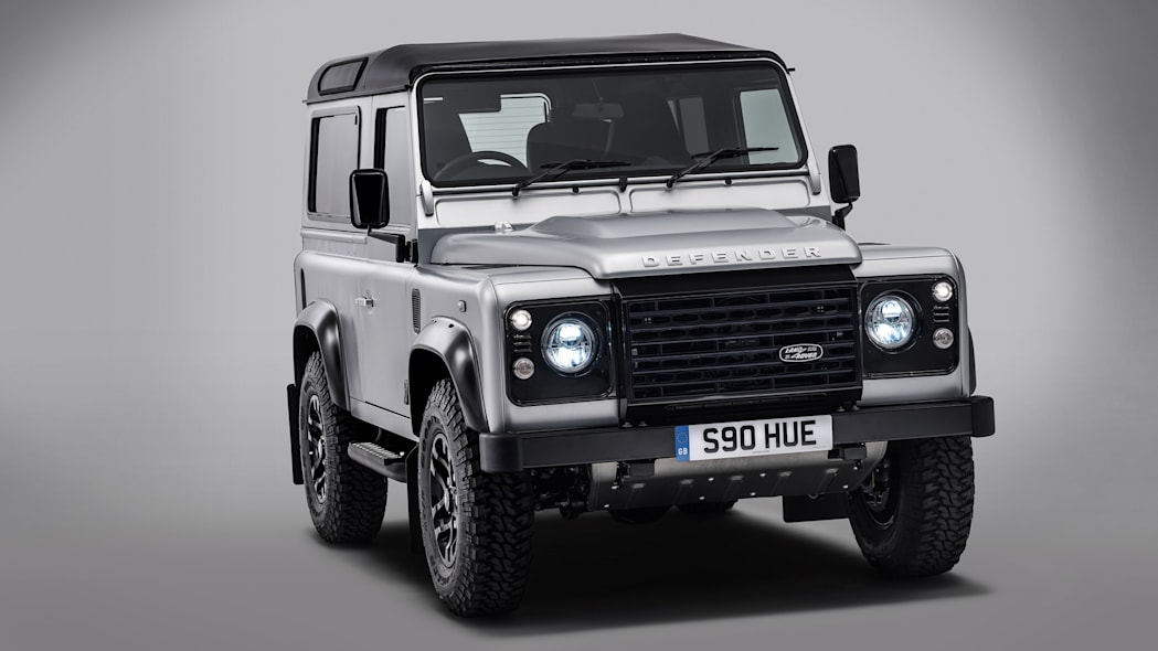 Land Rover Defender 2,000,000 front 3/4 view