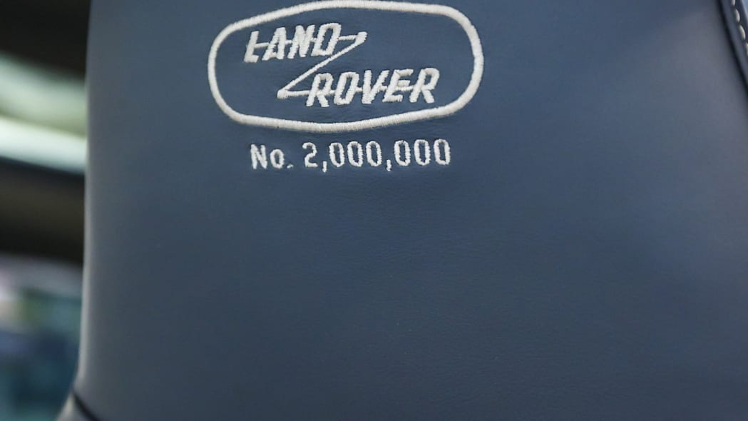 Land Rover Defender 2,000,000 seat embroidered