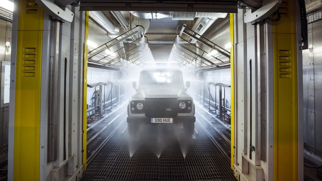 Land Rover Defender 2,000,000 paint booth