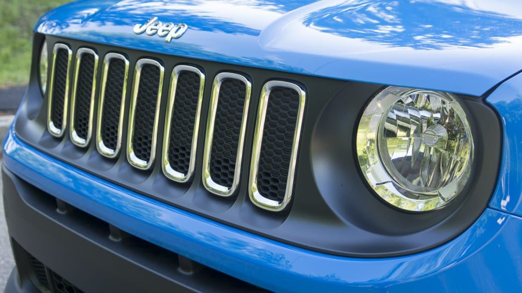 grille renegade jeep headlights slats badge hood