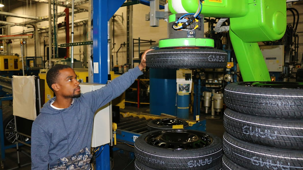 GM Orion Assembly Plant tires