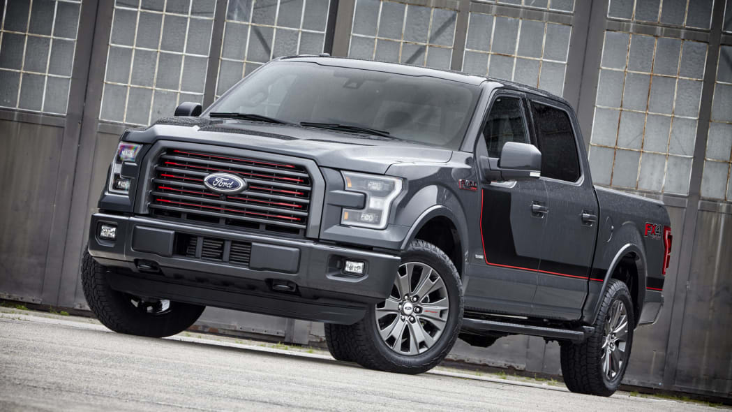 gray 2016 ford-150 lariat appearance package