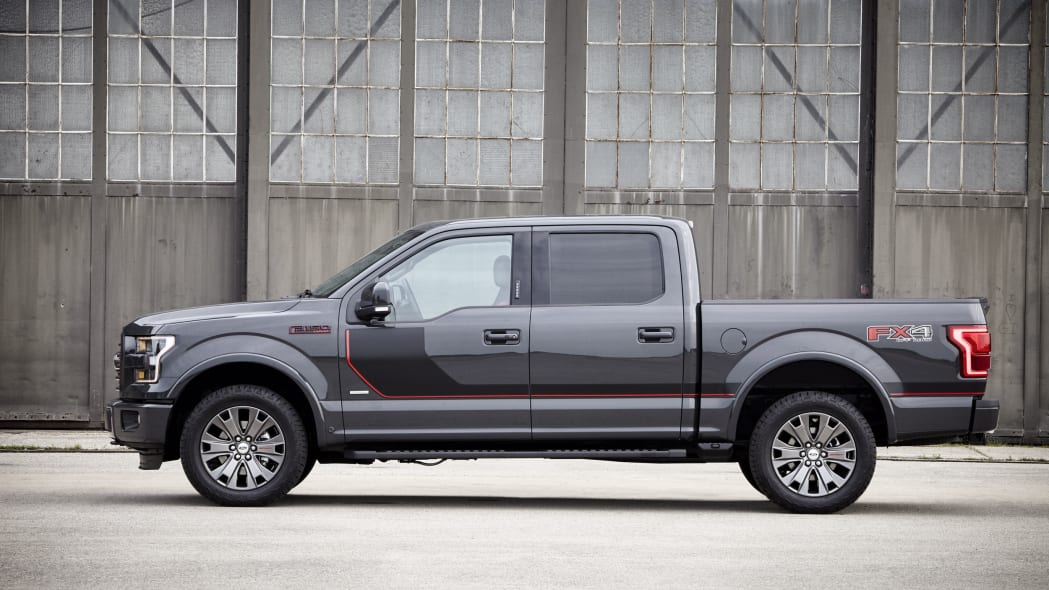 gray 2016 ford-150 lariat appearance package profile