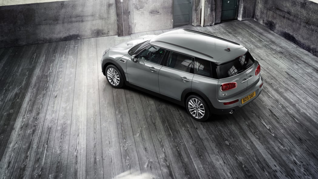 2016 Mini Clubman above rear 3/4