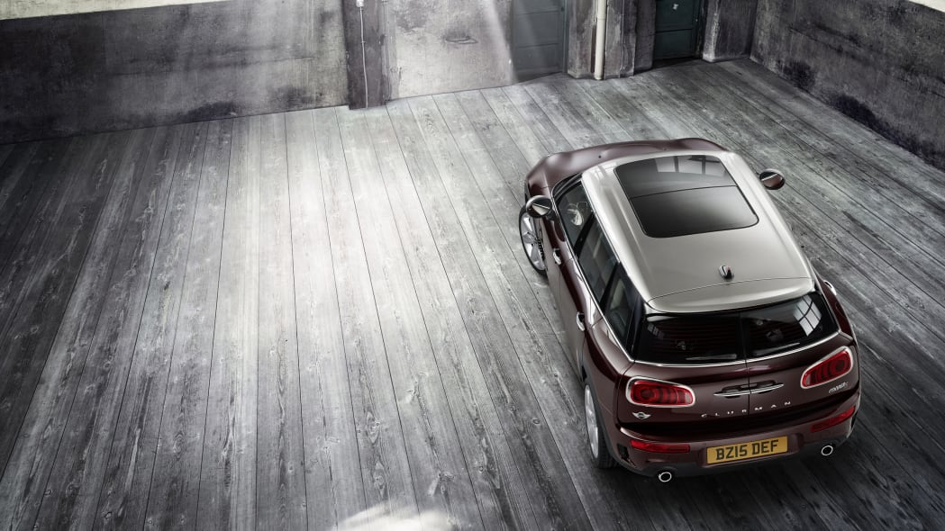 2016 Mini Cooper S Clubman above rear 3/4