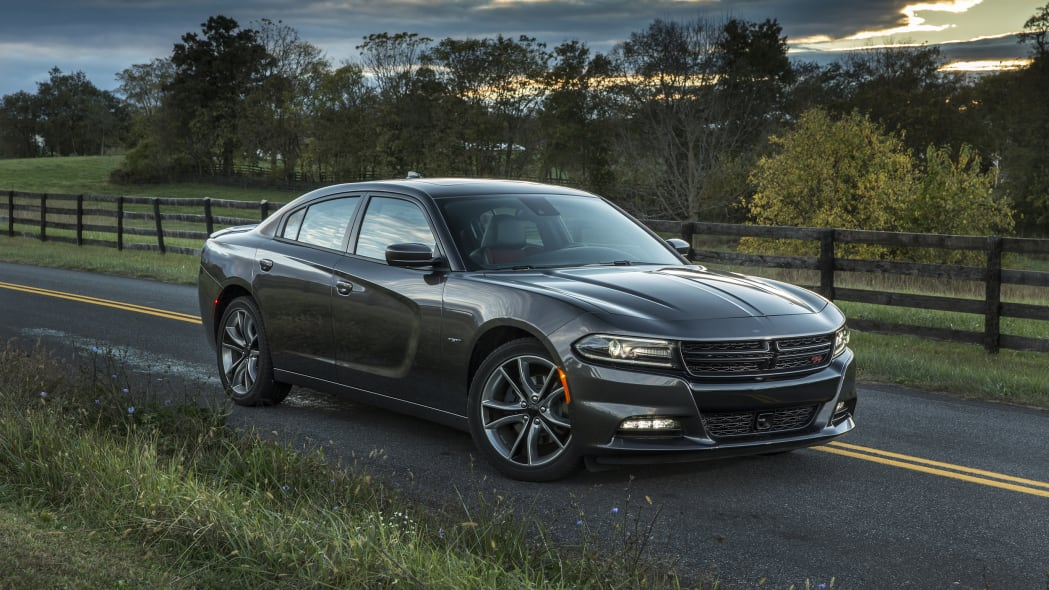 2015 Dodge Charger on a deserted road