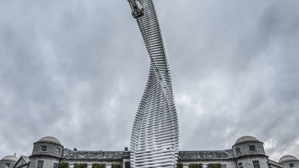 mazda goodwood festival of speed sculpture at manor