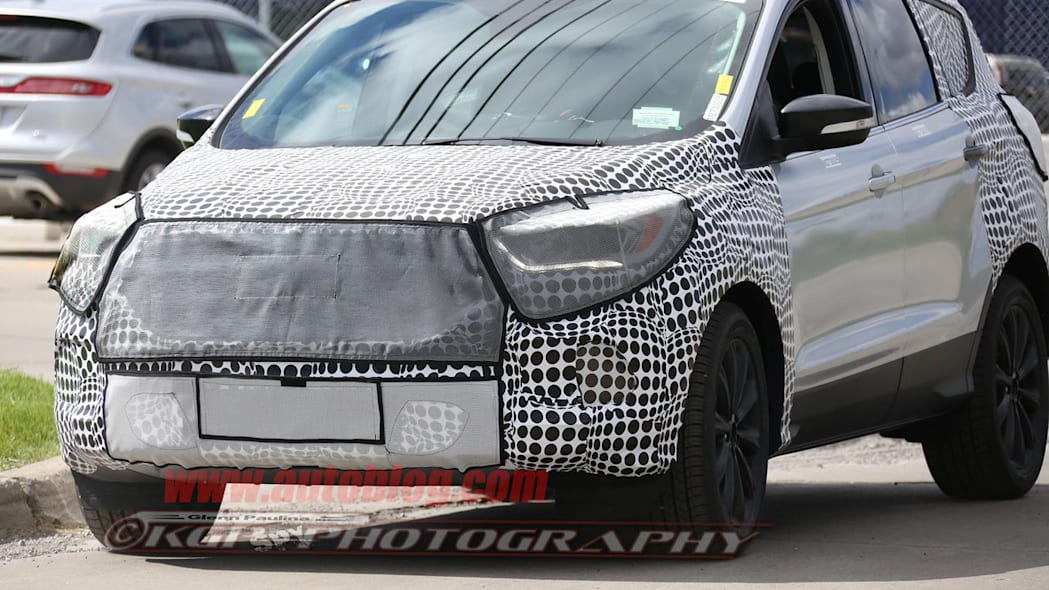 camouflaged silver ford escape spy shots updates