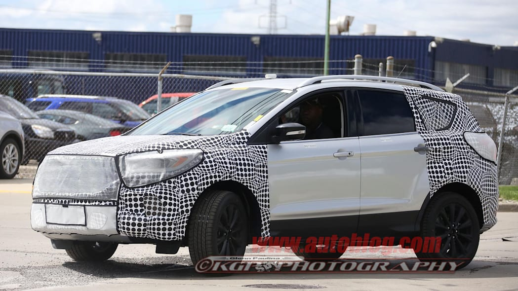 camouflaged silver ford escape spy shots reshaped
