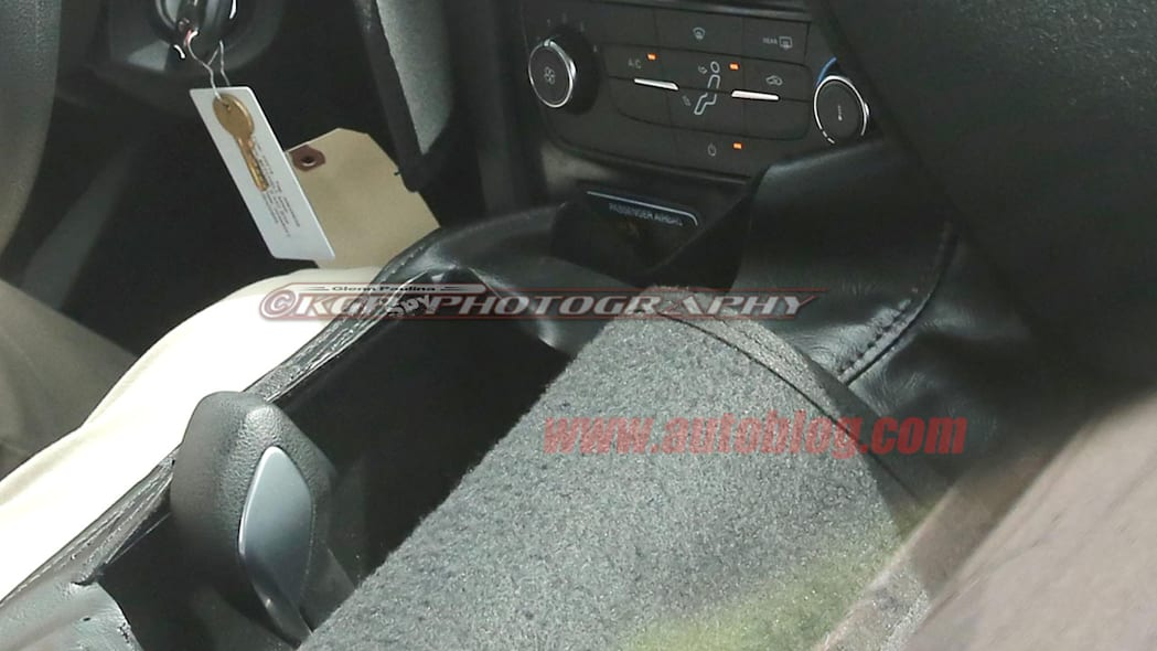 camouflaged ford escape spy shots gearshift and hvac