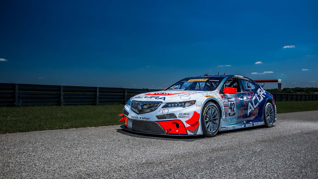 acura tlx gt racecar front wallpaper