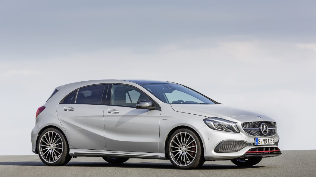 Mercedes A250 AMG Sport Line side.