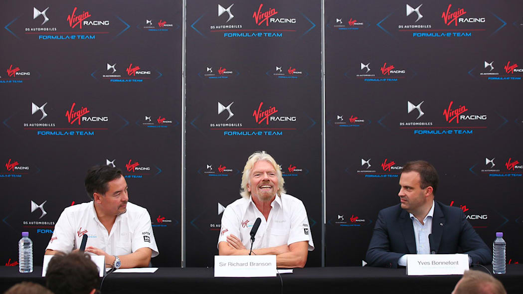DS Virgin Racing press conference Richard Branson
