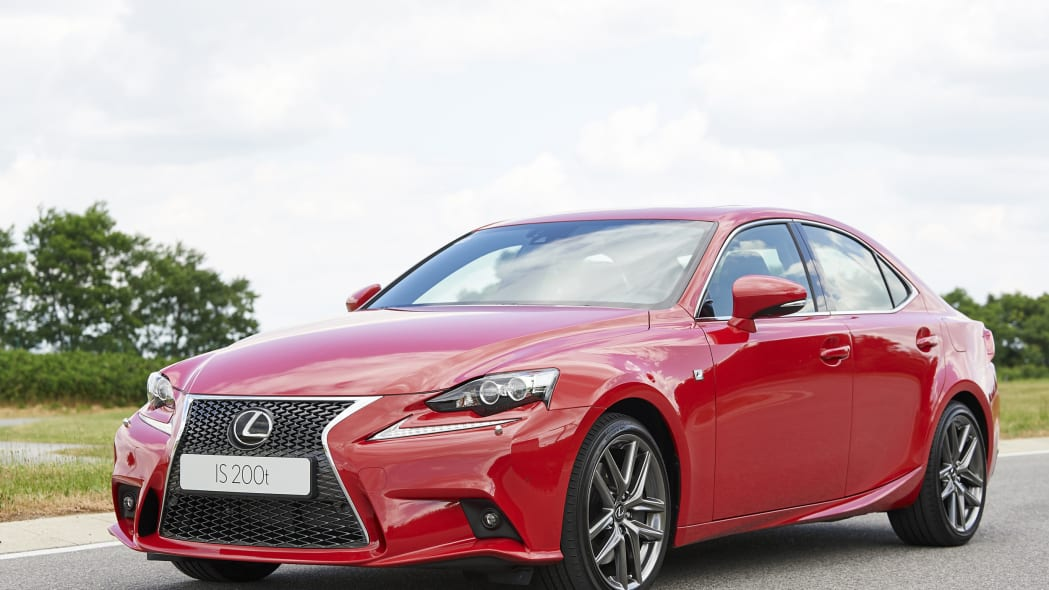 The Lexus IS200t, front three-quarter view.
