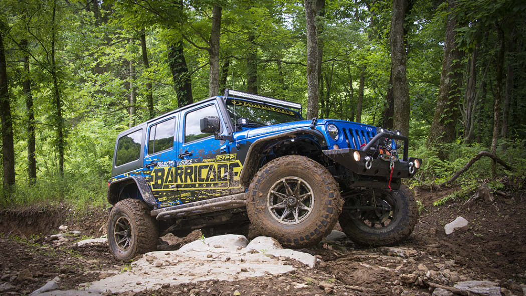 Project Trail Force 2015 Jeep Wrangler Rubicon, off-roading static.