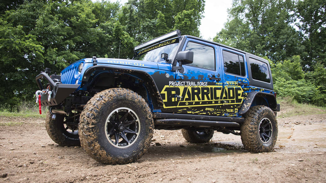 Project Trail Force 2015 Jeep Wrangler Rubicon, front three-quarter.