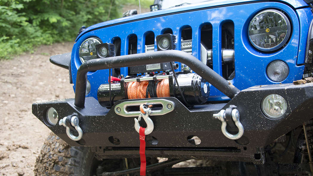 Project Trail Force 2015 Jeep Wrangler Rubicon winch.
