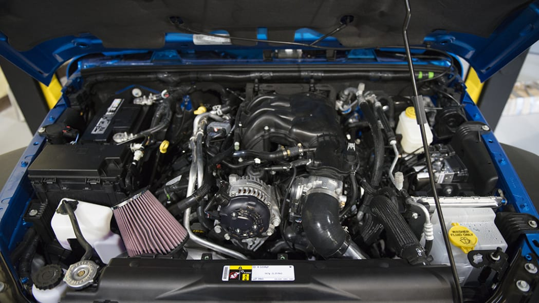 Project Trail Force 2015 Jeep Wrangler Rubicon engine with supercharger.