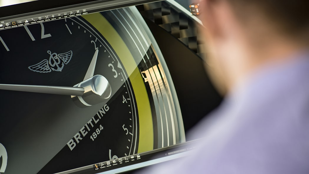 Bentley Continental GT Speed Breitling Jet Team Series Limited Edition clock rendering design