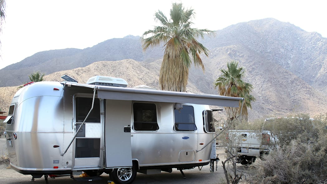 Airstream Bambi Sport 22 rear 3/4 view shade out