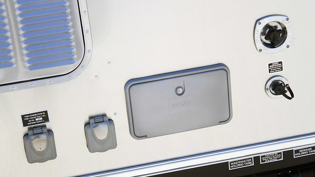 Airstream Bambi Sport 22 access ports