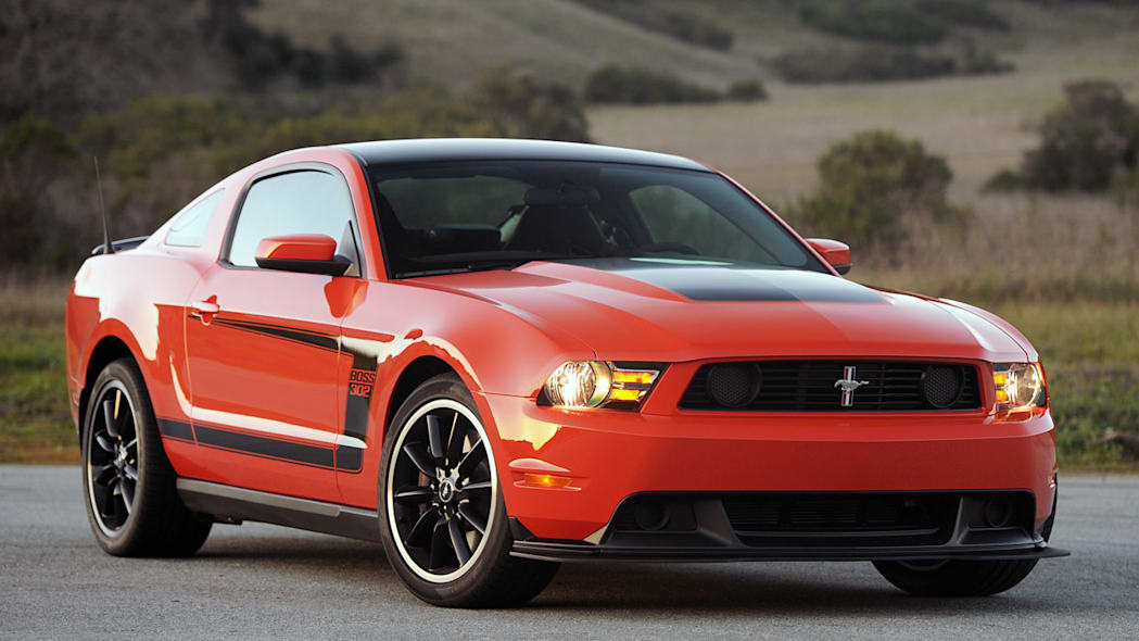 2012 Ford Mustang Boss 302 Laguna Seca orange front view