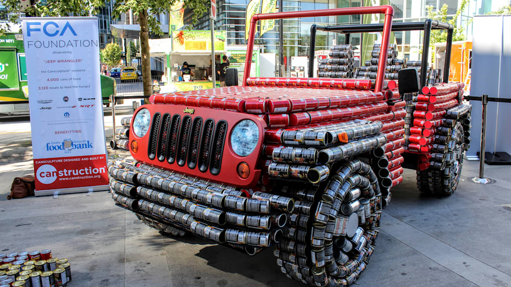 Jeep Wrangler made of cans