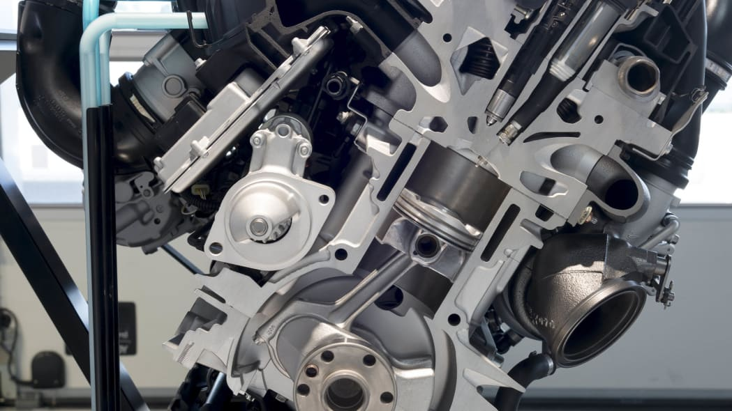 BMW Direct Water Injection Technology three-cylinder engine
