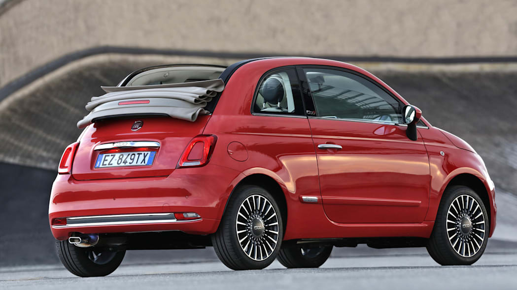 Fiat 500c rear 3/4 red