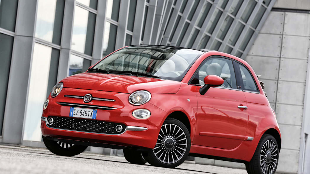 Fiat 500c front 3/4 red