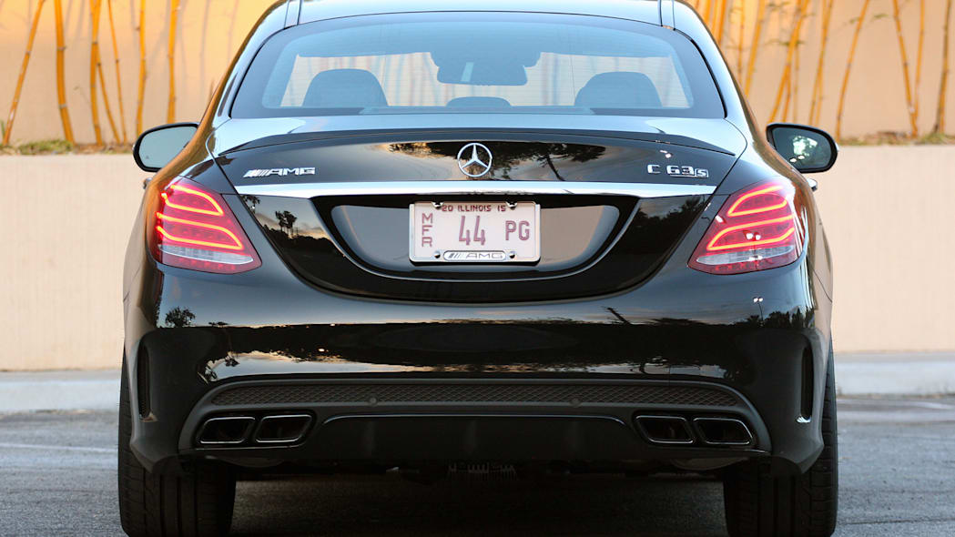 2015 Mercedes-AMG C63 S rear view