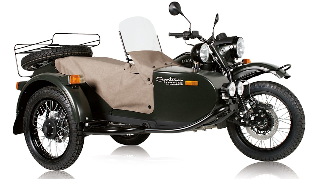 green ural motorcycles sportsman front three quarters