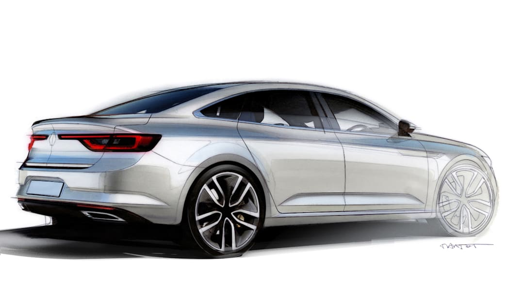 renault talisman sketch drawing back