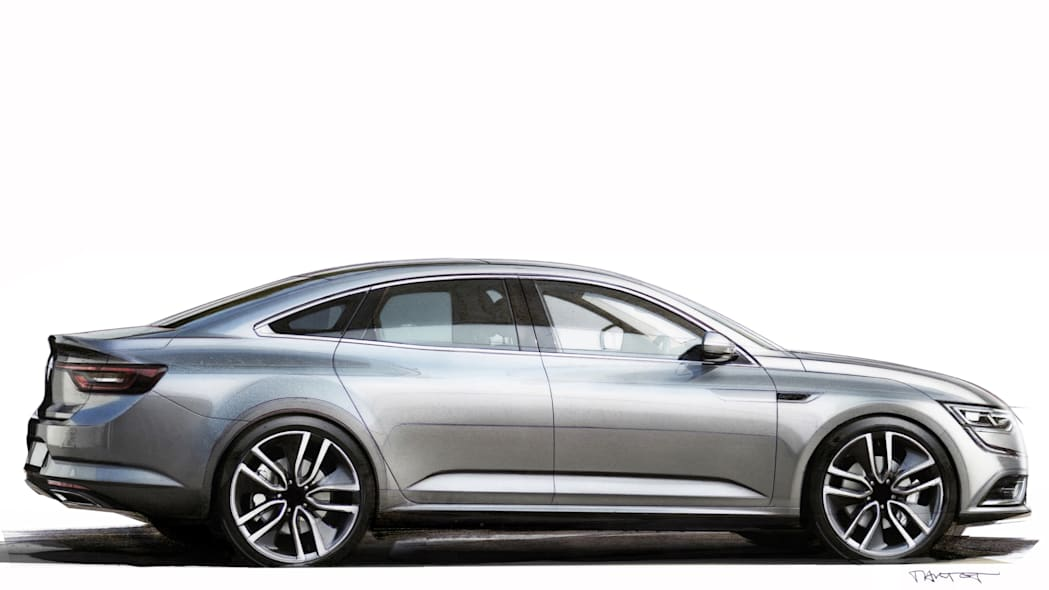 renault talisman sketch profile side